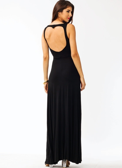 Heart Cut-Out Maxi Dress
