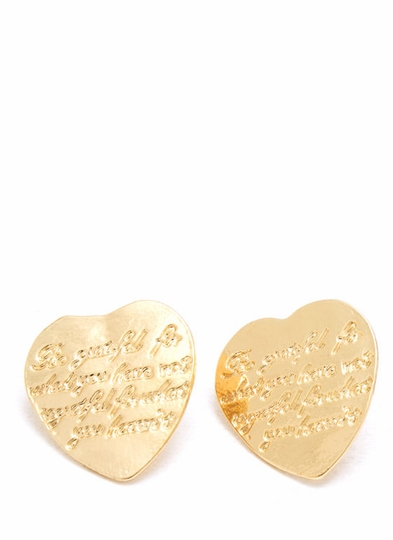 Heart To Heart Plate Earrings