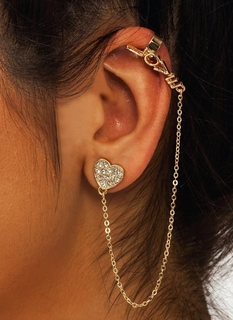 Heart You Cuff Earring Set