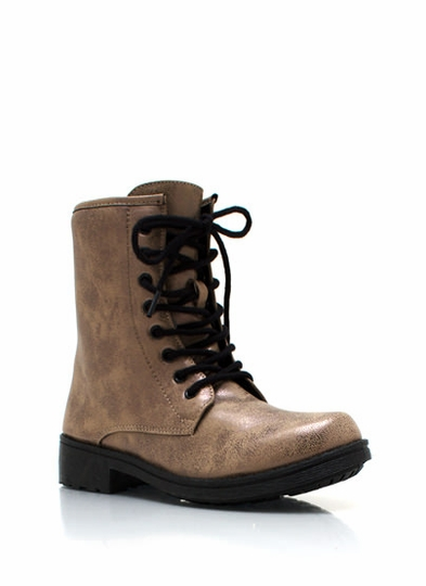 Heavy Metal Distressed Combat Boots