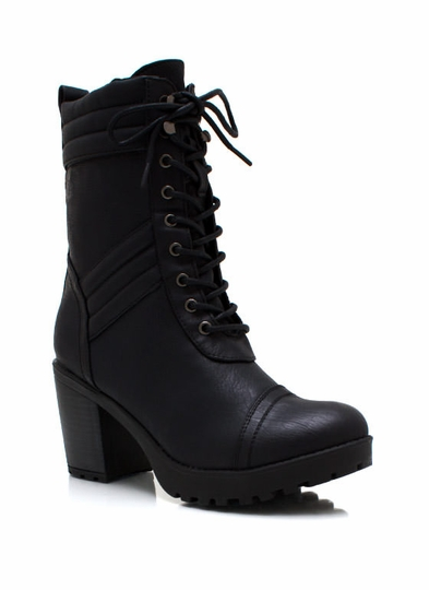 Heeled Mountaineering Boots