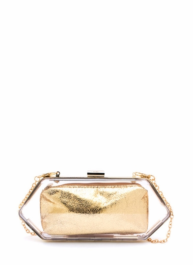 Hexagonal Lucite Clutch