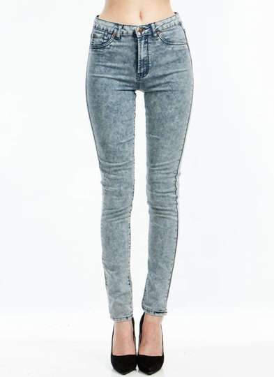 Acid Best High-Waisted Skinny Jeans