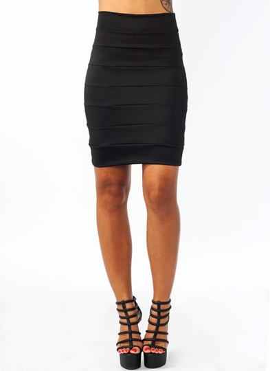 High-Waisted Bandage Skirt