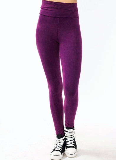 High-Waisted Mineral Wash Leggings
