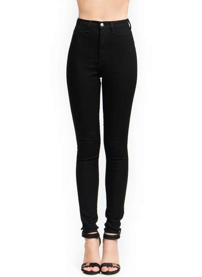 High-Waisted Skinny Jeans