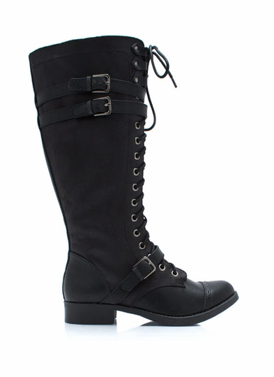 Higher Me Lace-Up Boots