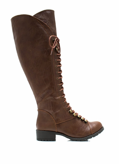 Hike It Up Tall Lace-Up Boots