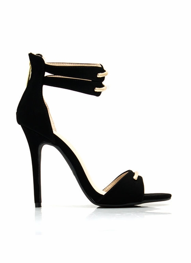 Hit The Bar Ankle Strap Heels