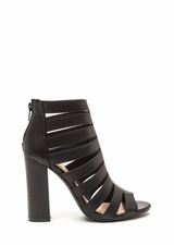 Hold Your Gaze Caged Chunky Heels