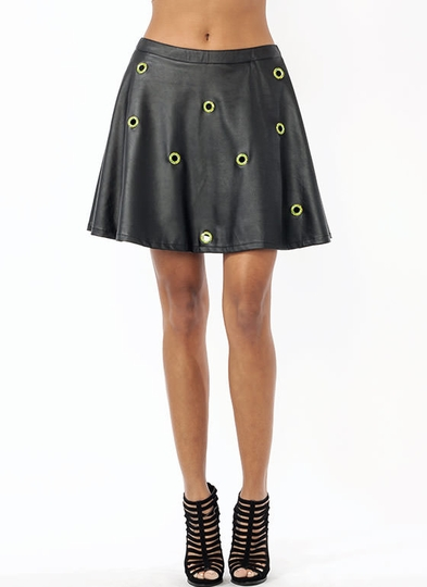 Hole-d On Skater Skirt