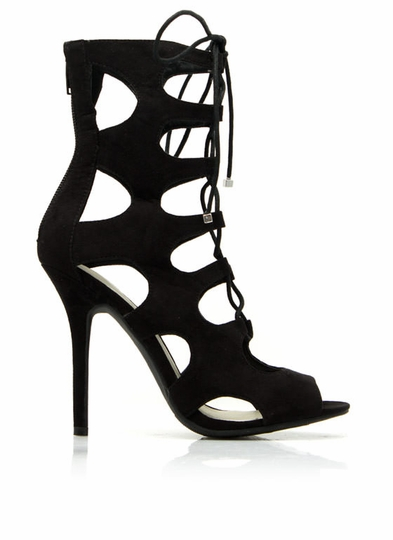 Hole Lotta Love Lace-Up Heels