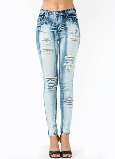 Holey Cow Bleached Jeans