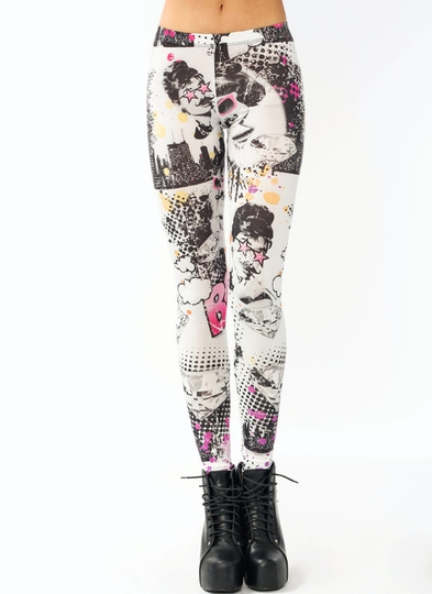 Hollywood Starlet Pop Art Leggings