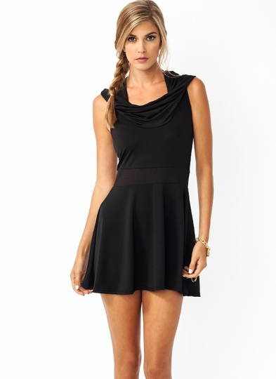 Hooded Skater Dress