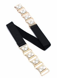 Hooked On Rhinestones Metal Belt