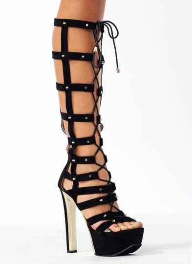 Hot Stud Gladiator Heels