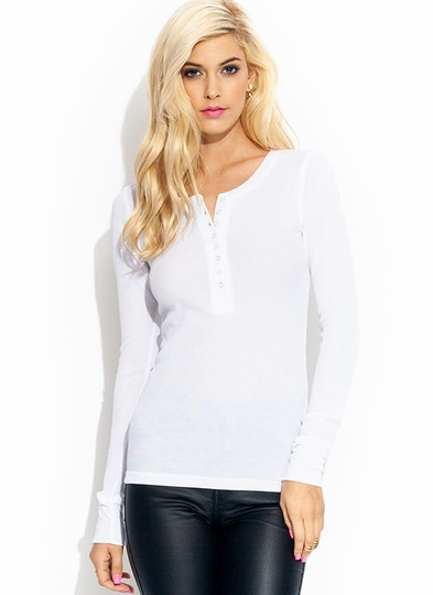 Hot Stuff Thermal Henley Top
