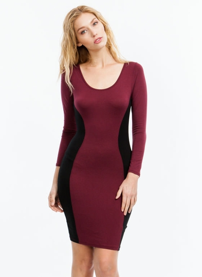 Hourglass Contrast Bodycon Dress
