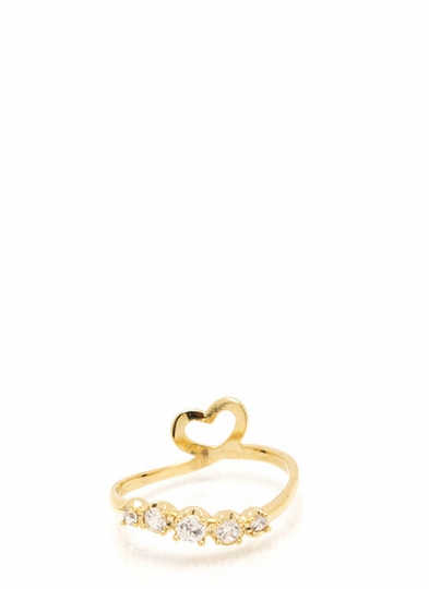 I Heart You Midi Ring