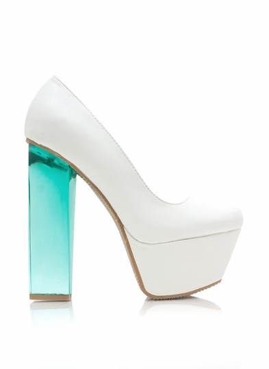 I Love Lucite Platform Pumps