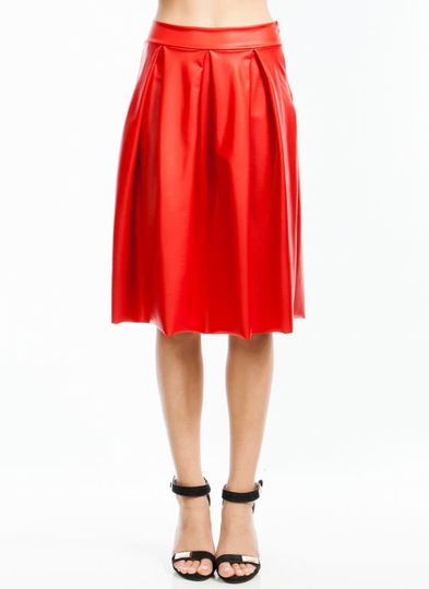 If You Pleats A-Line Midi Skirt