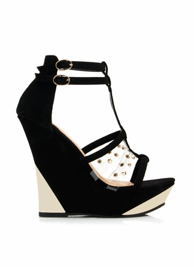 Impress Me Faux Nubuck Wedges