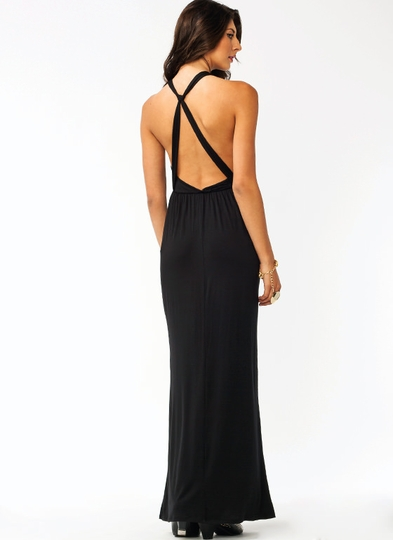 In A Knot Surplice Maxi Dress