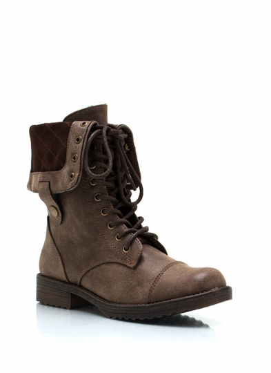 In Distress Combat Boots