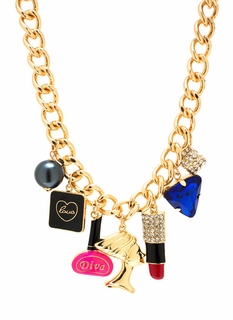 In Love With A Diva Charm Necklace