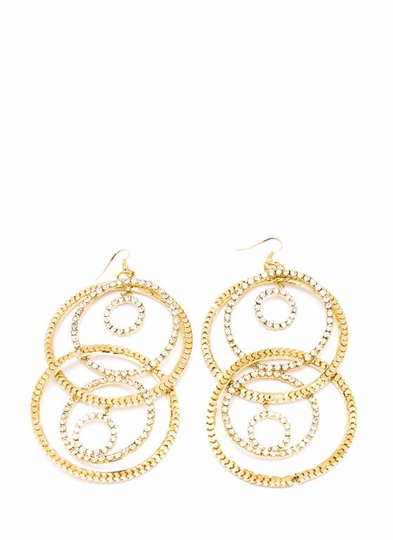 Inner Circle Rhinestone Earrings