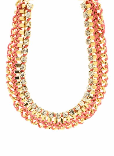 Interwoven Layered Chain Necklace Set