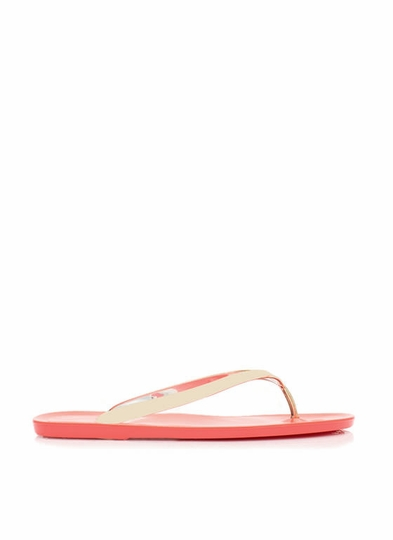 Metallic Jelly Thong Sandals