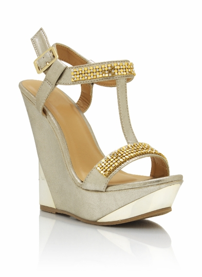 Jewel Embellished Wedges