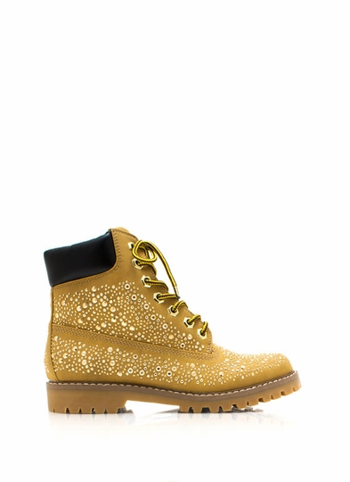 Jewel Miner Embellished Hiking Boots