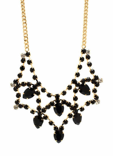 Jewel Time Faux Gem Necklace Set