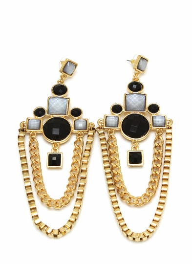 Jeweled Chandelier Earrings