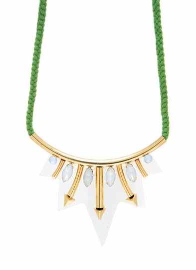 Jeweled Lucite Rope Necklace