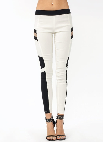 Join The Panels Moto Jeggings