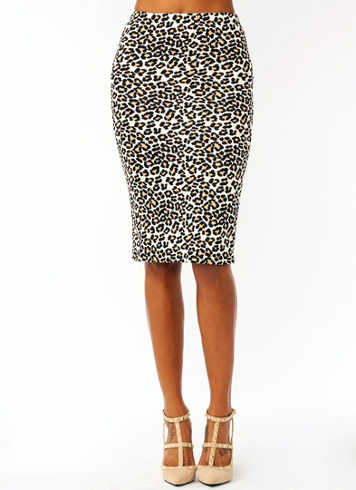 Jungle Cat Pencil Skirt