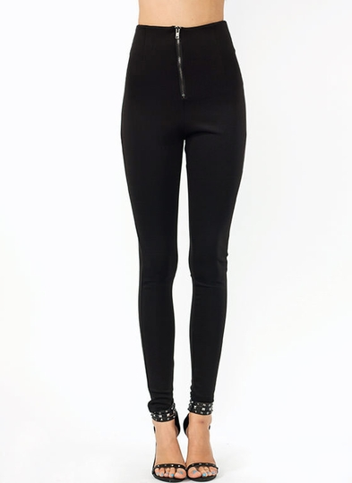 Just Zip It High-Waisted Pants