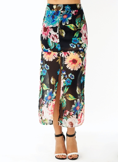 Ka Bloom Chiffon Skirt