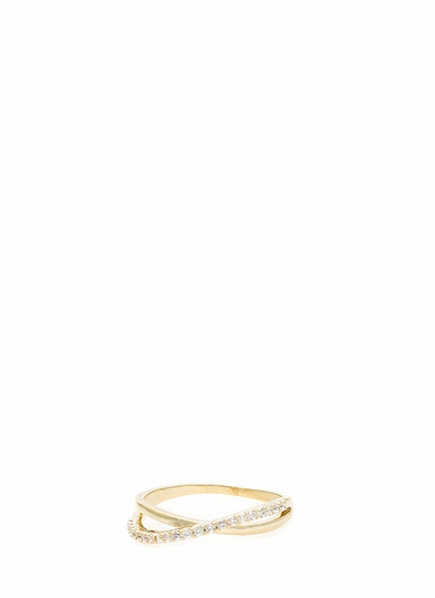Keep It Crossed Embellished Ring