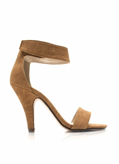 Keep It Simple Faux Nubuck Heels