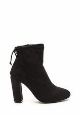 Key To Great Style Chunky Tied Booties