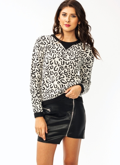 Knit Leopard Sweater