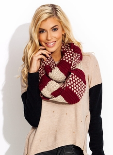 Knit The Spot Infinity Scarf