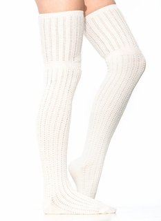 Knit Thigh-High Socks