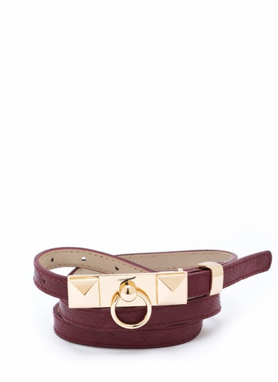 Knock Knock Faux Leather Belt
