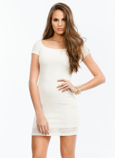 Lace Crossback Bodycon Dress